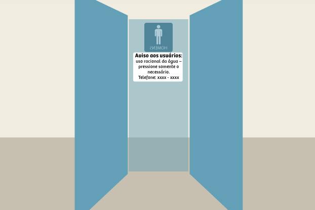 PL sugere alertas em banheiros com foco na economia de água