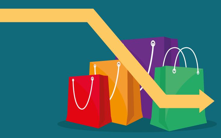 Apesar da melhora da confiança, intenção de consumo segue em queda