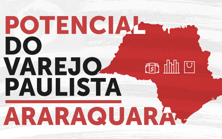 Varejo de Araraquara fatura R$ 13,6 bilhões, mais do que o apurado pelo setor no estado de Sergipe