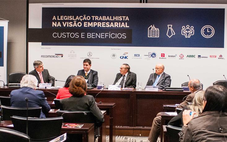 Especialistas são unânimes em ressaltar obsolescência da CLT durante seminário na FecomercioSP sobre reforma trabalhista