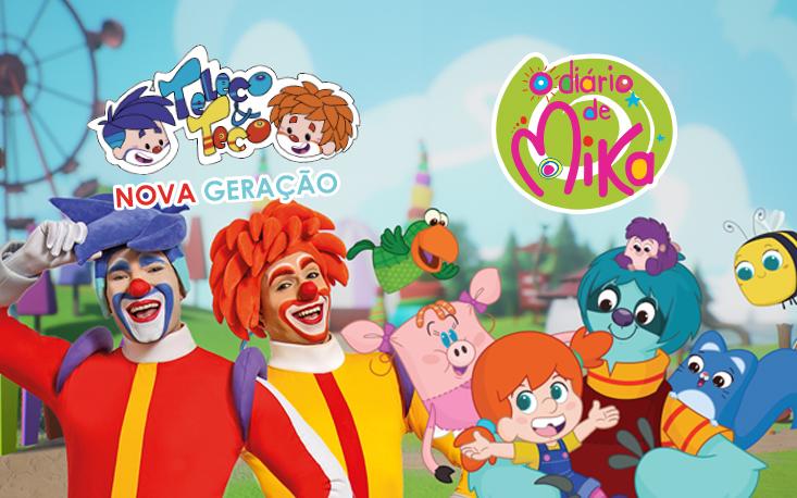 """Brincadeiras e músicas marcam show """"Teleco & Teco Nova Geração"""" e """"O Diário de Mika"""""""