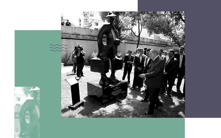 Ao lado do prefeito João Doria, Abram Szajman reinaugura a Praça 14 Bis
