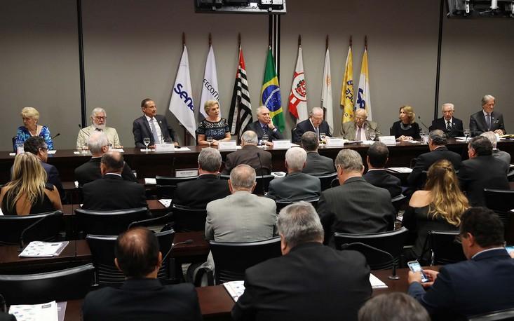 Presidente Michel Temer prega otimismo aos empresários na sede da FecomercioSP
