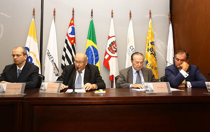 Mesa de abertura do evento Novos Desafios da Jurisdição Eleitoral - Foto: Fernando Nunes