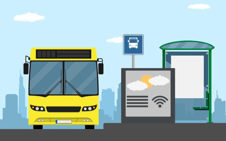 Tecnologia para pontos de ônibus do futuro propõe novo canal entre comércio e consumidor