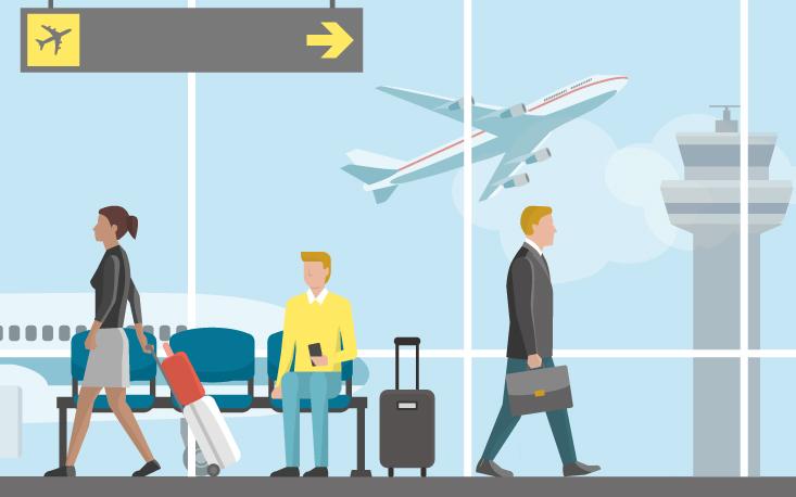Crise reduz viagens aéreas e faz empresas reverem custos
