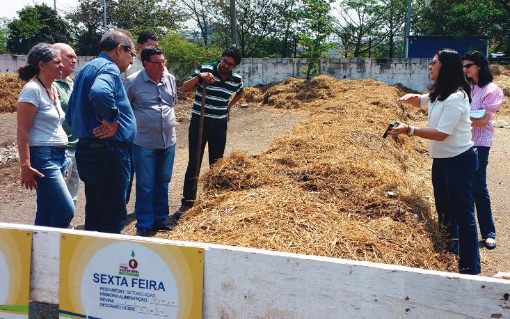 Sincofer visita pátio de compostagem de resíduos orgânicos de feiras livres