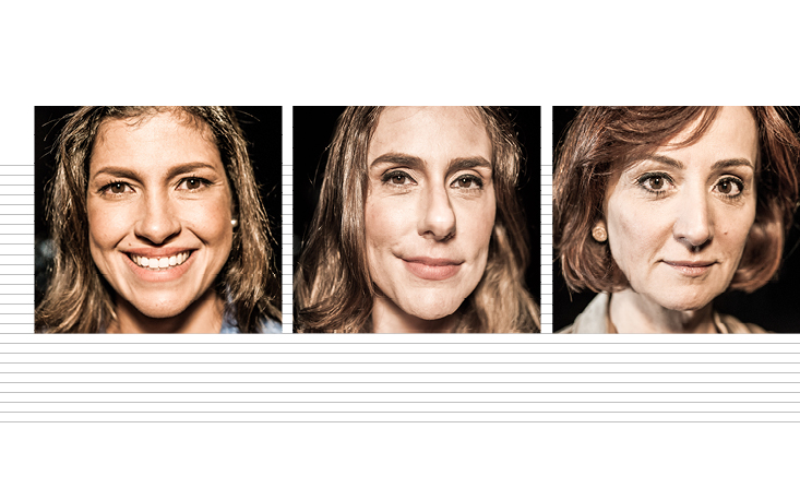 Érica Fraga, Sabine Righetti e Thais Herédia discutem assédio no ambiente profissional