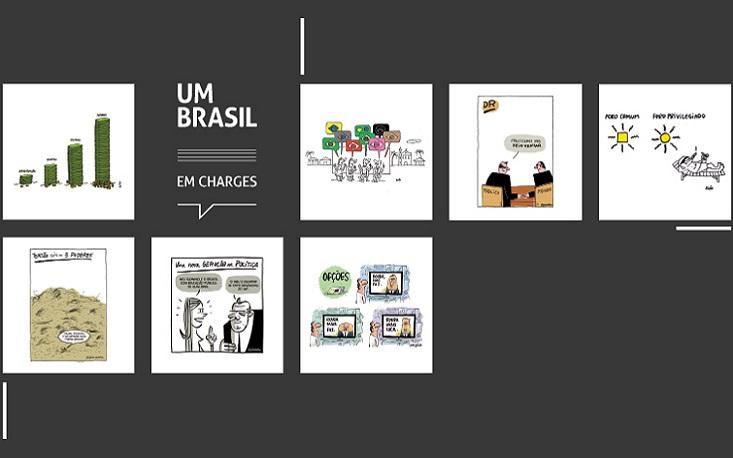 Charges do UM BRASIL estão no Salão Internacional de Humor de Piracicaba