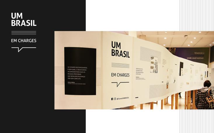 """Sete mil pessoas devem visitar exposição """"UM BRASIL em charges"""" na Universidade São Judas"""