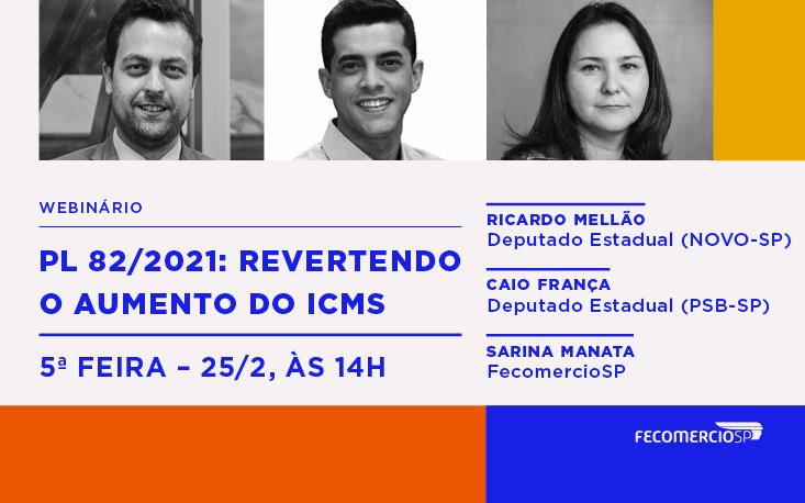 Contra o aumento do ICMS, FecomercioSP promove webinário nesta quinta-feira (25)