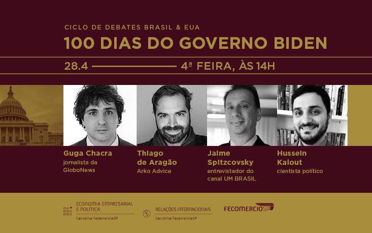 Debate analisa os cem primeiros dias do governo Biden e os impactos para o ambiente de negócios brasileiro; inscreva-se